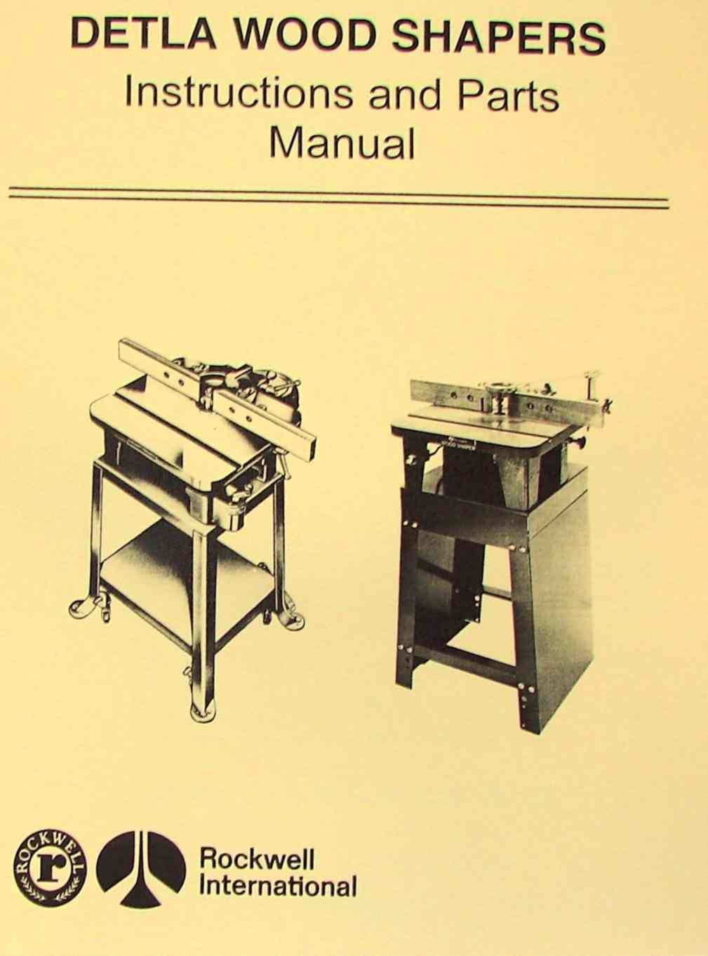 Rockwell Delta Homecraft Wood Shapers Operating Parts Manual Piano Diagram Ozark Tool Manuals Books
