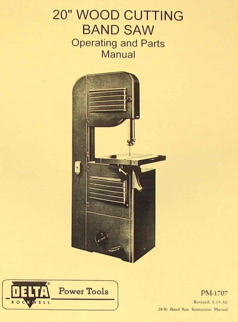 Operator manual dayton Band saw