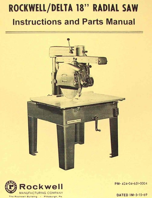 10 radial arm Saw Manual