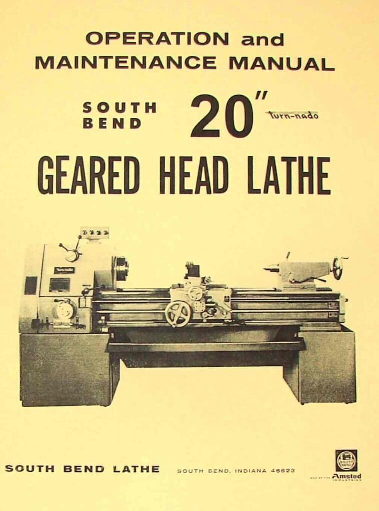 10 south bend Lathe manual