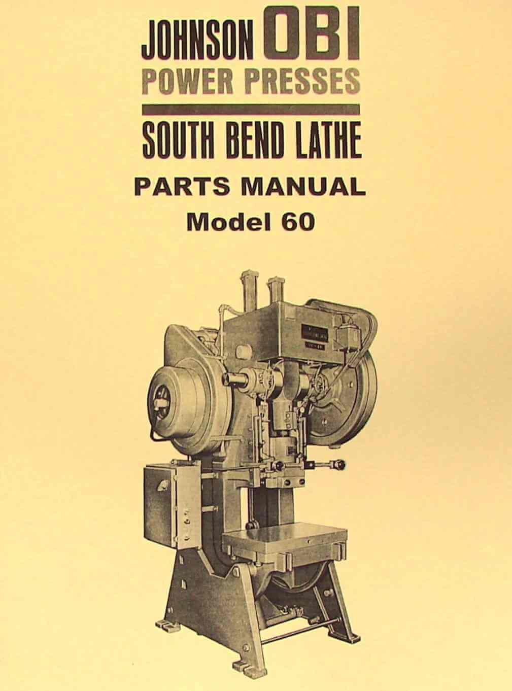 Brilliant South Bend Johnson Obi 60 Power Press Parts Manual Ozark Tool Wiring Cloud Nuvitbieswglorg