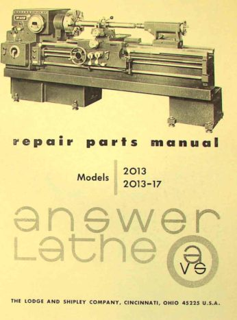 lodge & shipley answer lathe 2013, 2013-017 parts manual ... lathe victor 2040 wiring schematic 2080 hercules lathe wiring schematic