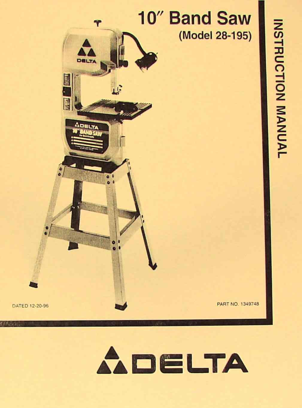 Delta 10 band saw 28 195 instructions parts manual ozark tool delta 10 band saw 28 195 instructions parts manual ozark tool manuals books greentooth Gallery