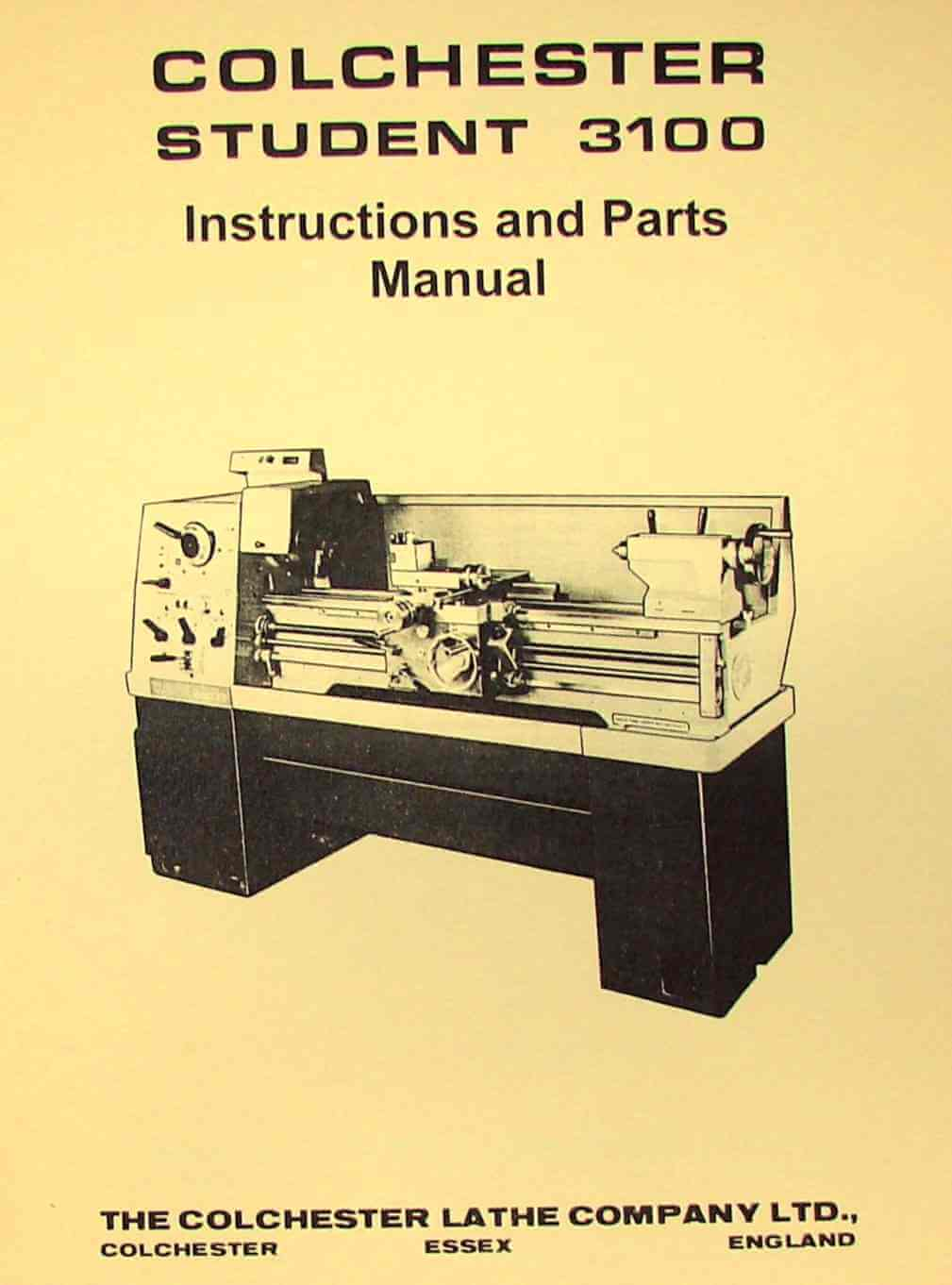 clausing colchester student 3100 13 lathe operator parts manual rh ozarktoolmanuals com
