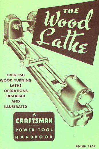 Craftsman Wood Lathe 1954 Handbook Operator U0026 39 S Manual