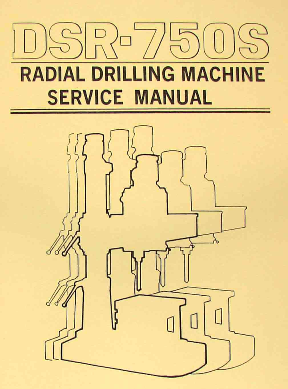 DAR SIN-JET DSR-750S & JRD-750 Radial Drill Instructions & Parts Manual |  Ozark Tool Manuals & Books