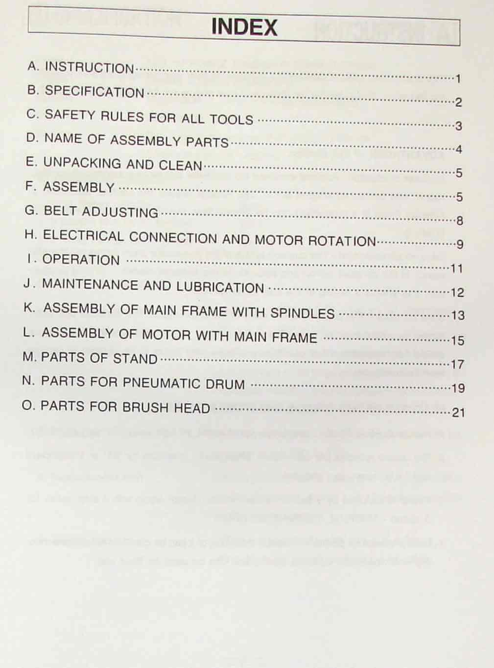 JET//Asian BDS-499 Brush /& Drum Sander Owner/'s Operator/'s /& Parts Manual 0905
