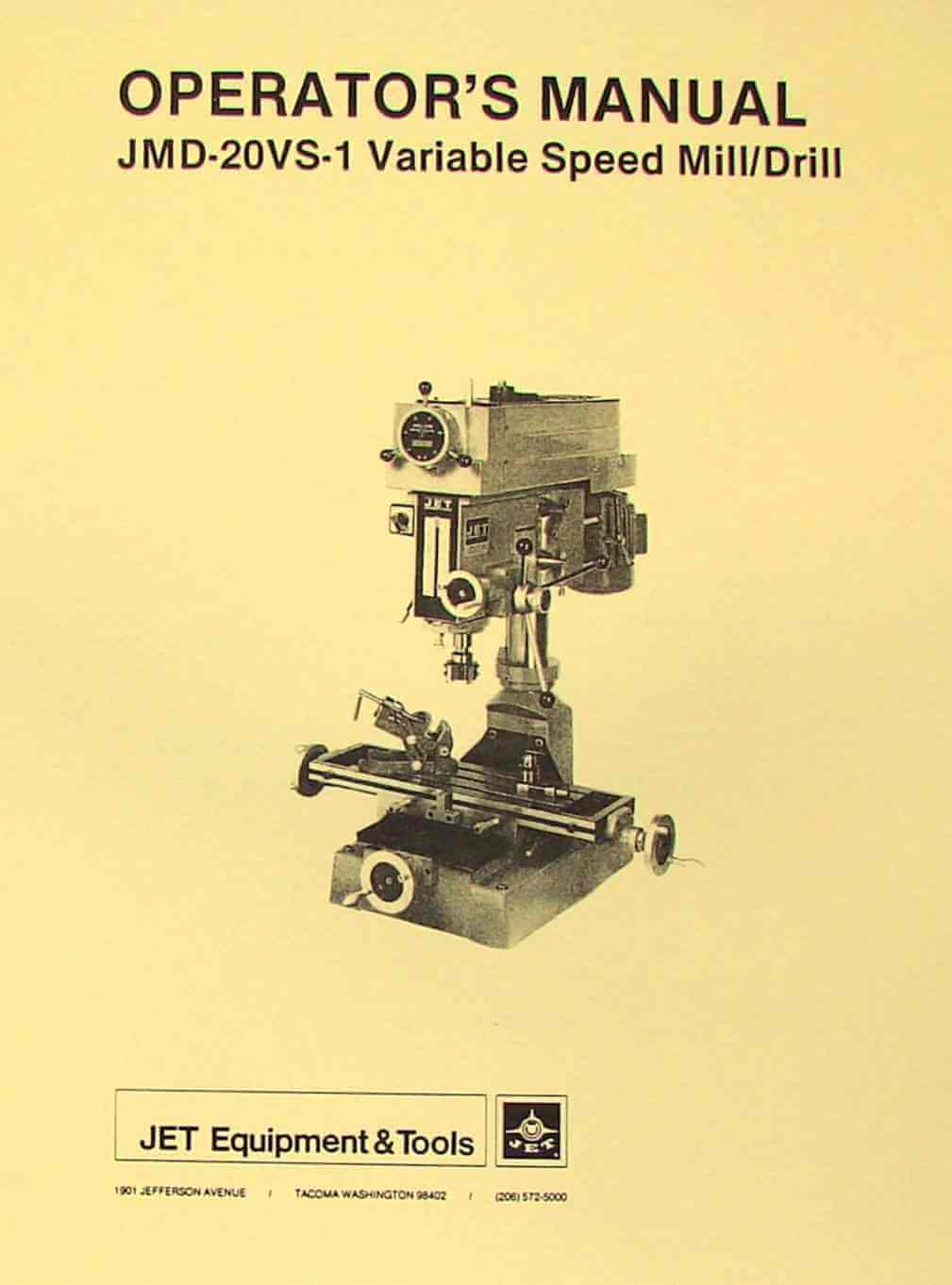 ALLIANT Vertical Milling Machine RT-2S, RT-2TV Operator /& Parts Manual