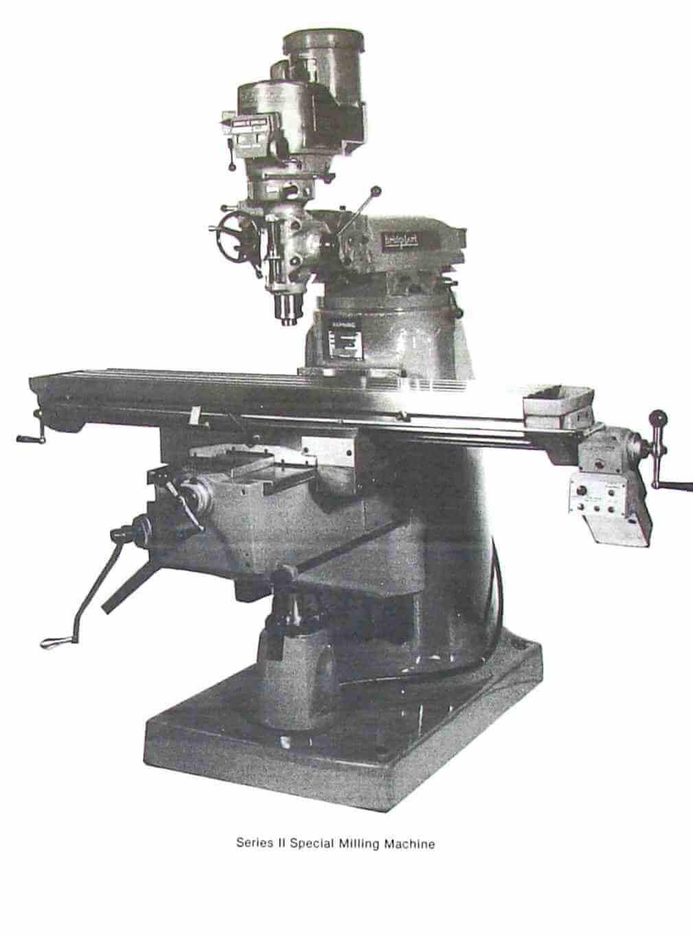 Electrical Wiring Diagram For Bridgeport Milling Machine : Bridgeport series ii special milling machine instructions