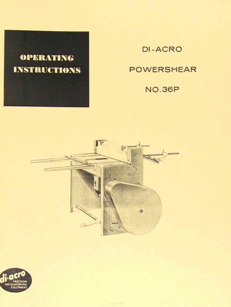 di arco power shear no 36p instructions and parts manual chevy truck wiring diagram