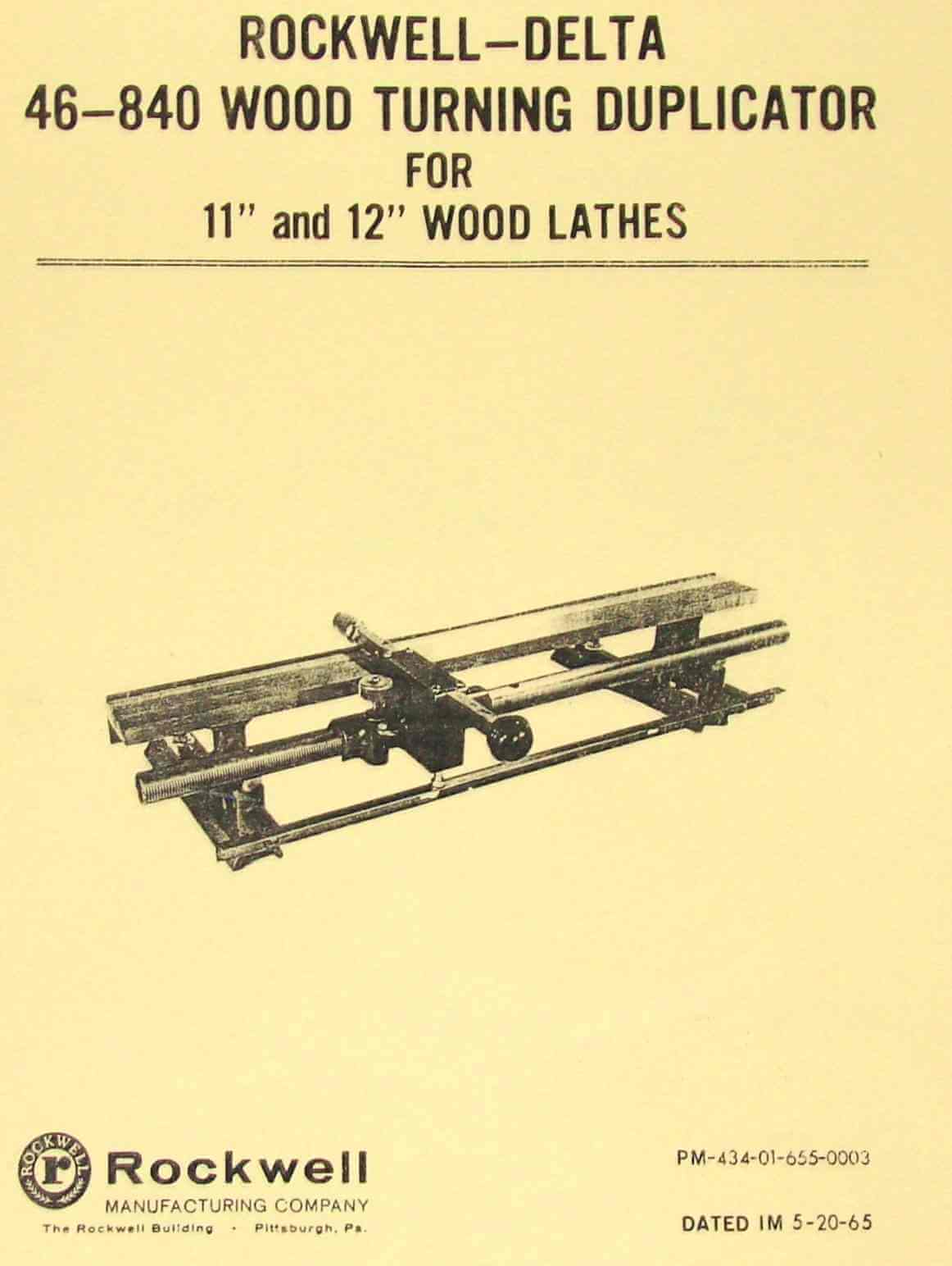 Rockwell delta 46 480 11 12 lathe wood turning duplicator rockwell delta 46 480 11 12 lathe wood turning duplicator instructions and parts manual ozark tool manuals books fandeluxe Choice Image