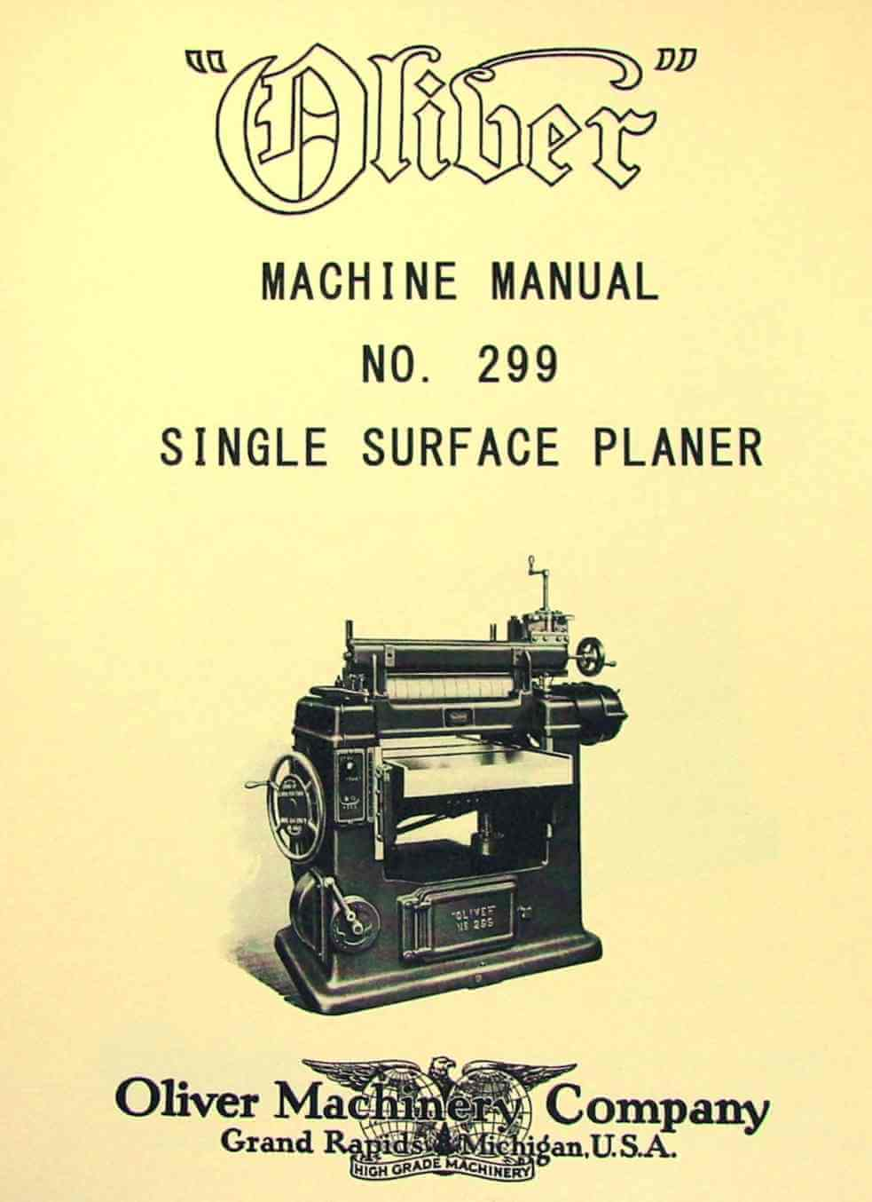 Oliver 192 D 18 Quot Band Saw Operators And Parts Manual
