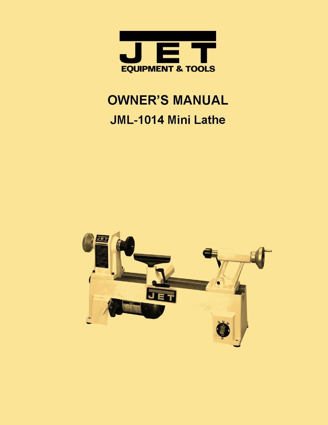 Jet Jml 1014 Mini Wood Lathe Owner S Manual Ozark Tool