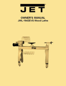 Jet Jwl 1442vs Wood Lathe Instructions Amp Parts Owner S