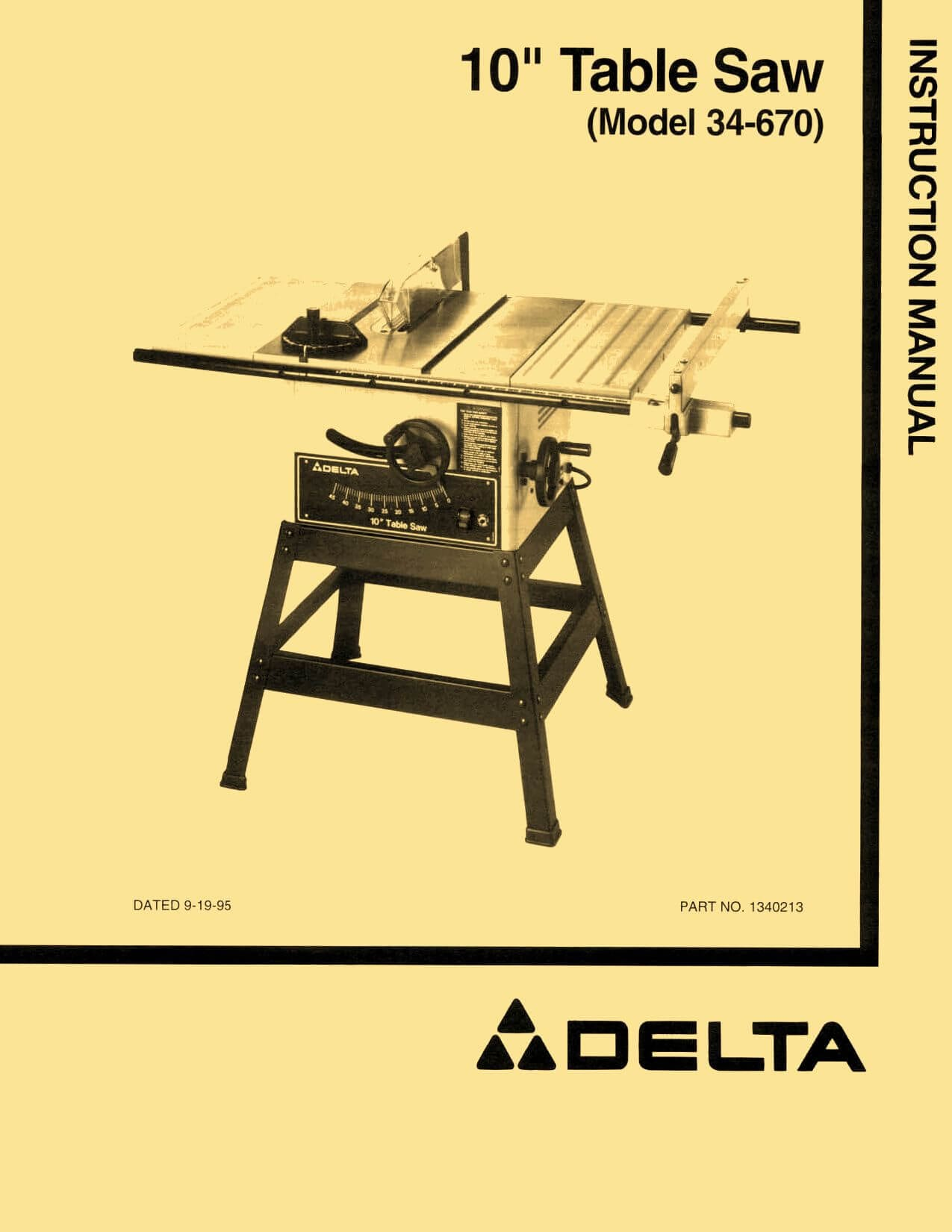 Delta 34 670 10 motorized table saw instructions parts manual delta 34 670 10 motorized table saw instructions parts manual greentooth
