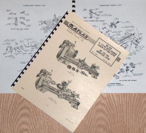 "ATLAS-CRAFTSMAN 6"" Metal Lathe NO. 618 Instructions & Parts Manual | Ozark Tool Manuals & Books"