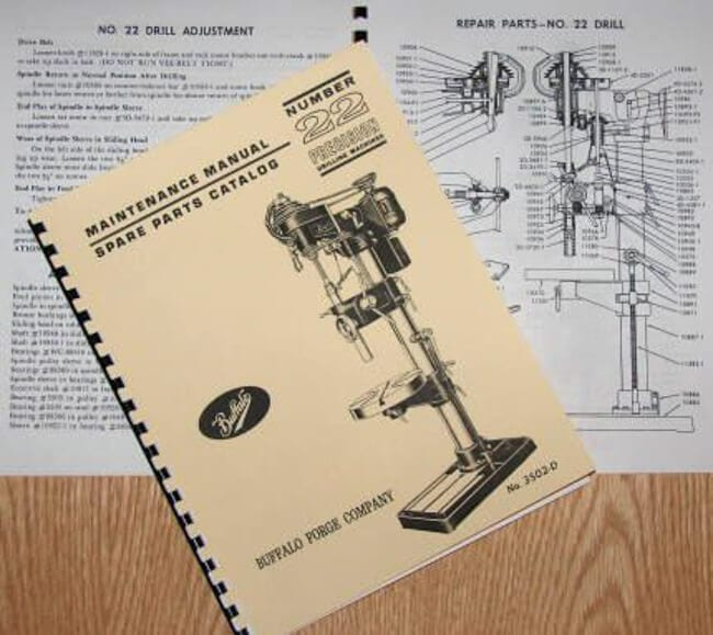 Buffalo No 22 Drill Press Operator Parts Manual Ozark Tool
