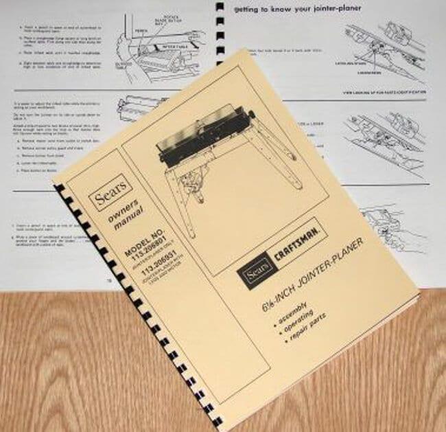 Woodworking Manuals & Books CRAFTSMAN 113.206801 & 113.206931 6 1 ...