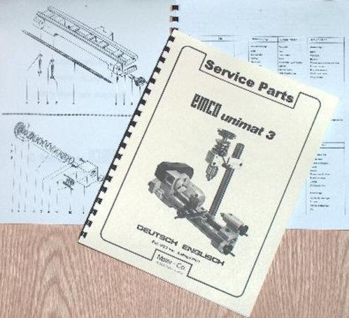 EMCO Unimat 3 Mill Metal Lathe Parts Manual   Ozark Tool Manuals & Books