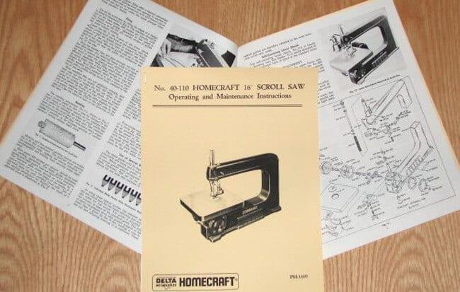 mastercraft 16 scroll saw manual