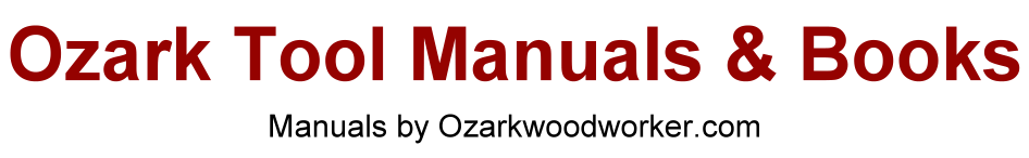 Ozark Tool Manuals & Books