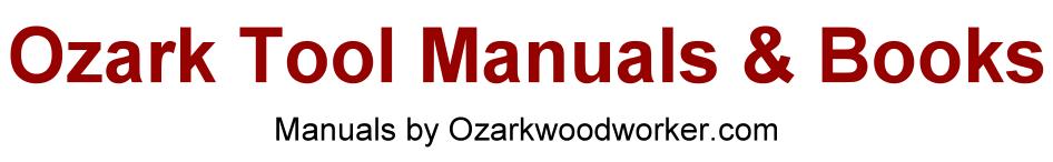 Ozark Tool Manuals & Books