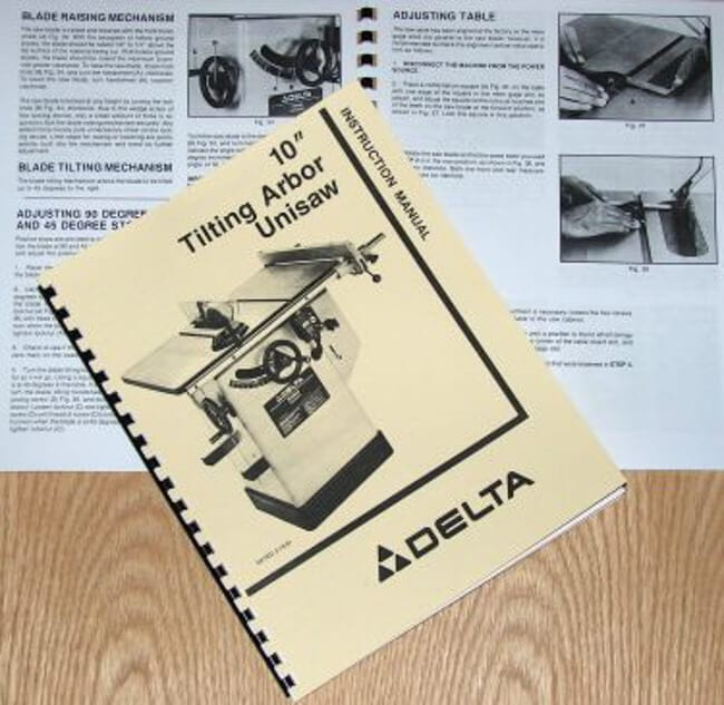Delta unisaw owners manual