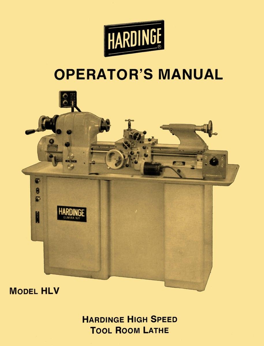 hardinge hlv hlv bk high speed tool room lathe operator s manual 58 rh ozarktoolmanuals com hardinge lathe manual pdf hardinge lathe manual pdf