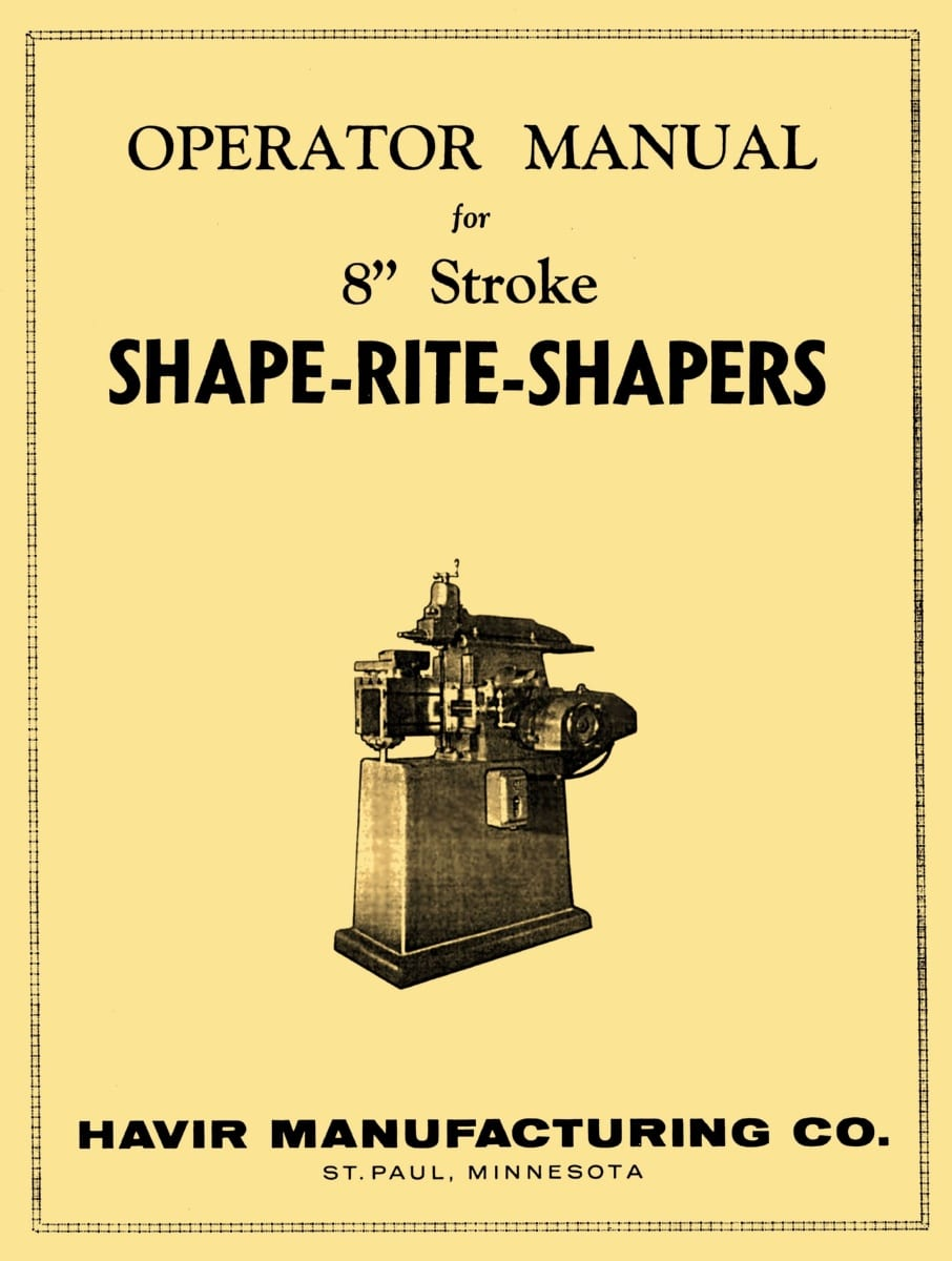 SOUTH BEND 7 inch Precision Metal Shaper Part Manual 0673
