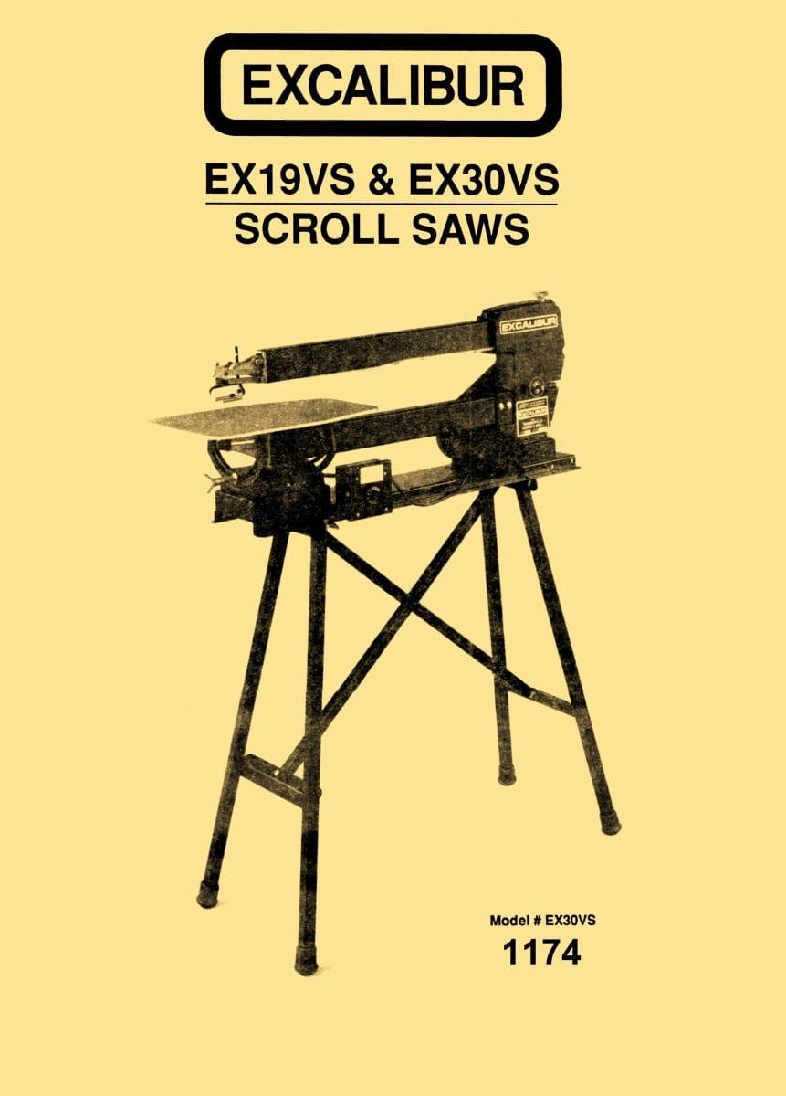 Excalibur Scroll Saw Manual