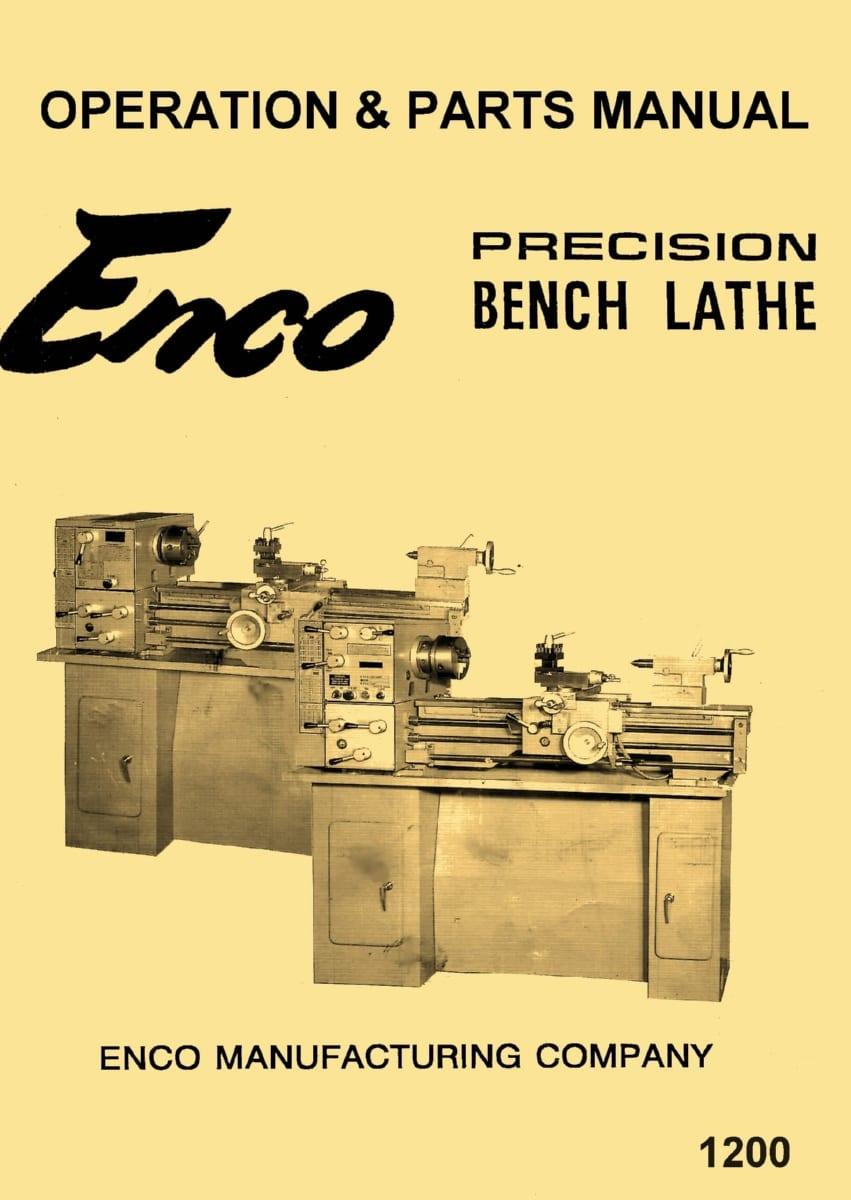 enco central machinery td1140e 12 x 36 metal lathe operating rh ozarktoolmanuals com Enco Mini Lathe Wiring-Diagram Enco Lathe 12X36