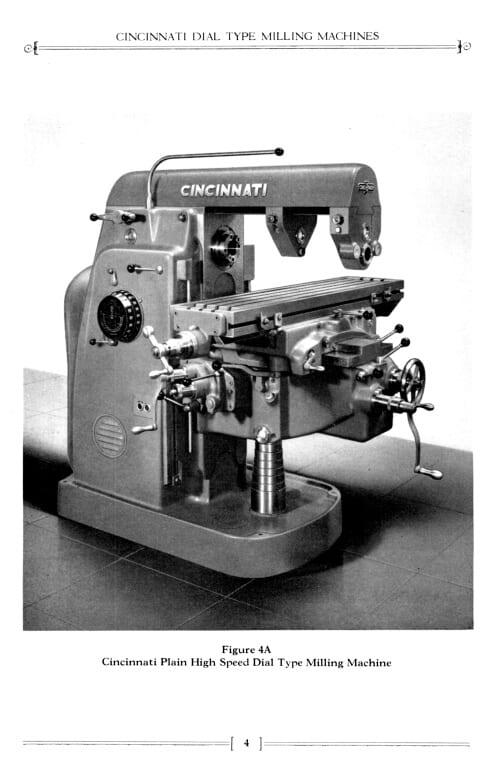 Cincinnati 2, 3, 4 Dial Type Horizontal & Vertical Milling Machine Model OM Operating ...