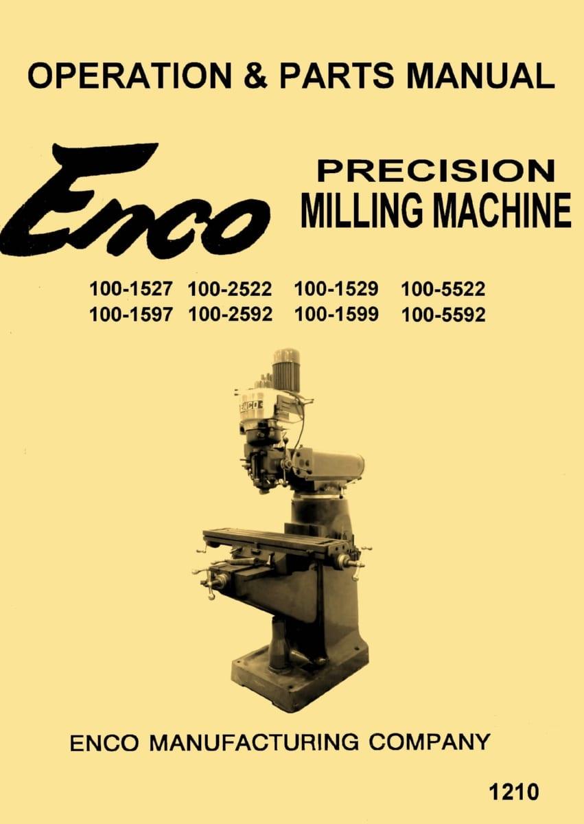 enco jet asian 9 x42 9 x49 vertical milling machine rh ozarktoolmanuals com CNC Milling Machine Manual Vertical Mill Machine Components
