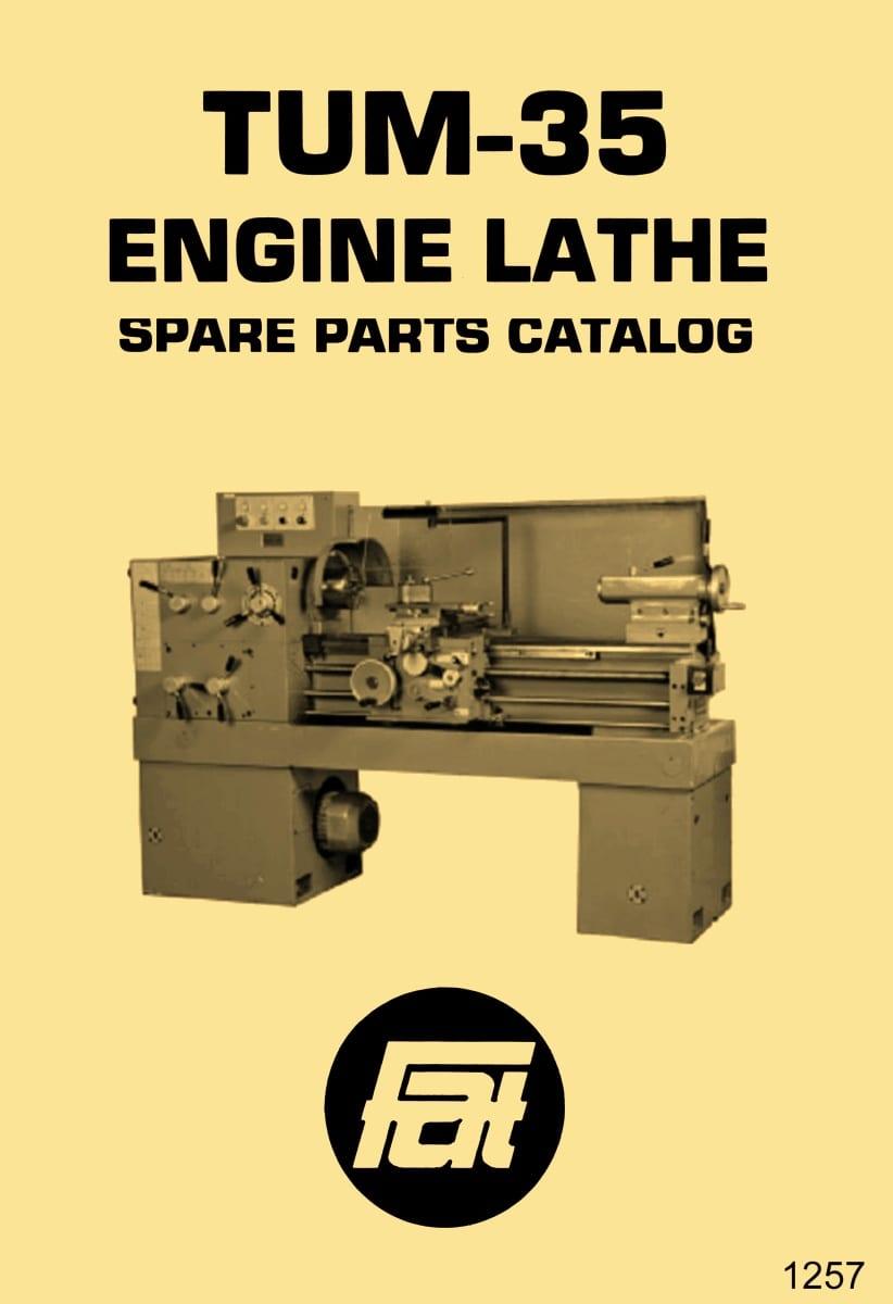 AFM Metal Lathe Parts Manual 1263 Toolmex Polamco TUG-40 Andrychow Famot