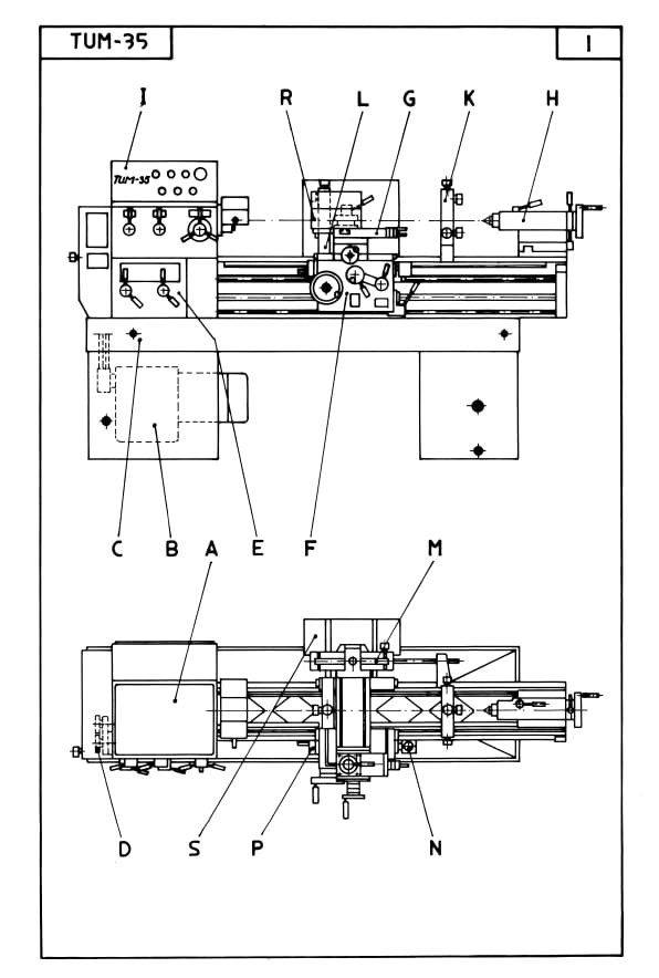 Metal Lathe Parts Diagram